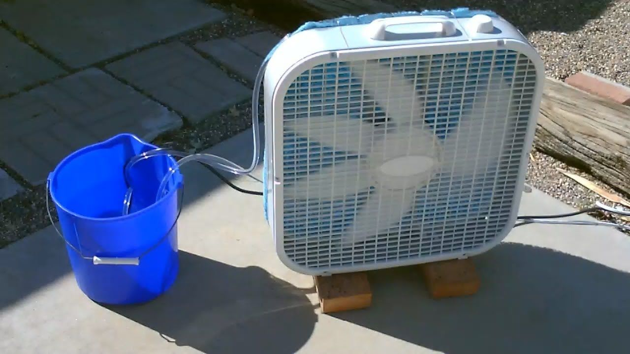 "Homemade Evaporative Air Cooler! Simple ""Box Fan"