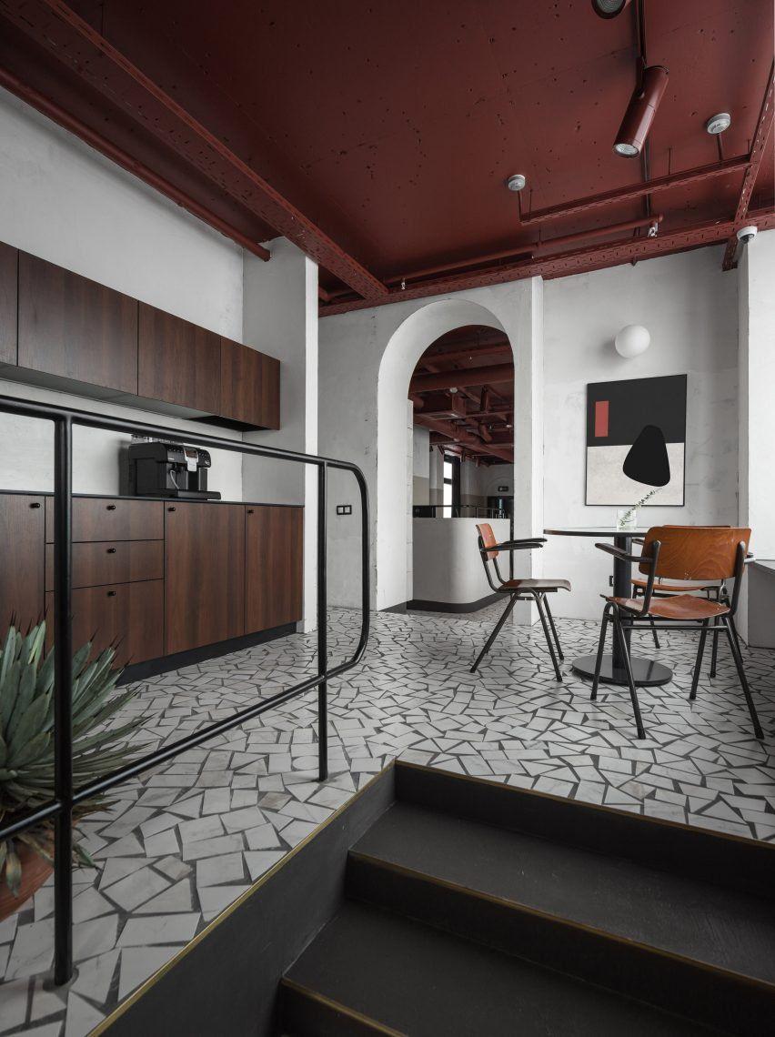 modern architecture interior office. Wonderful Architecture Studio11 Reinterprets Sovietera Architecture For Gaming Company Offices In  Minsk Intended Modern Architecture Interior Office