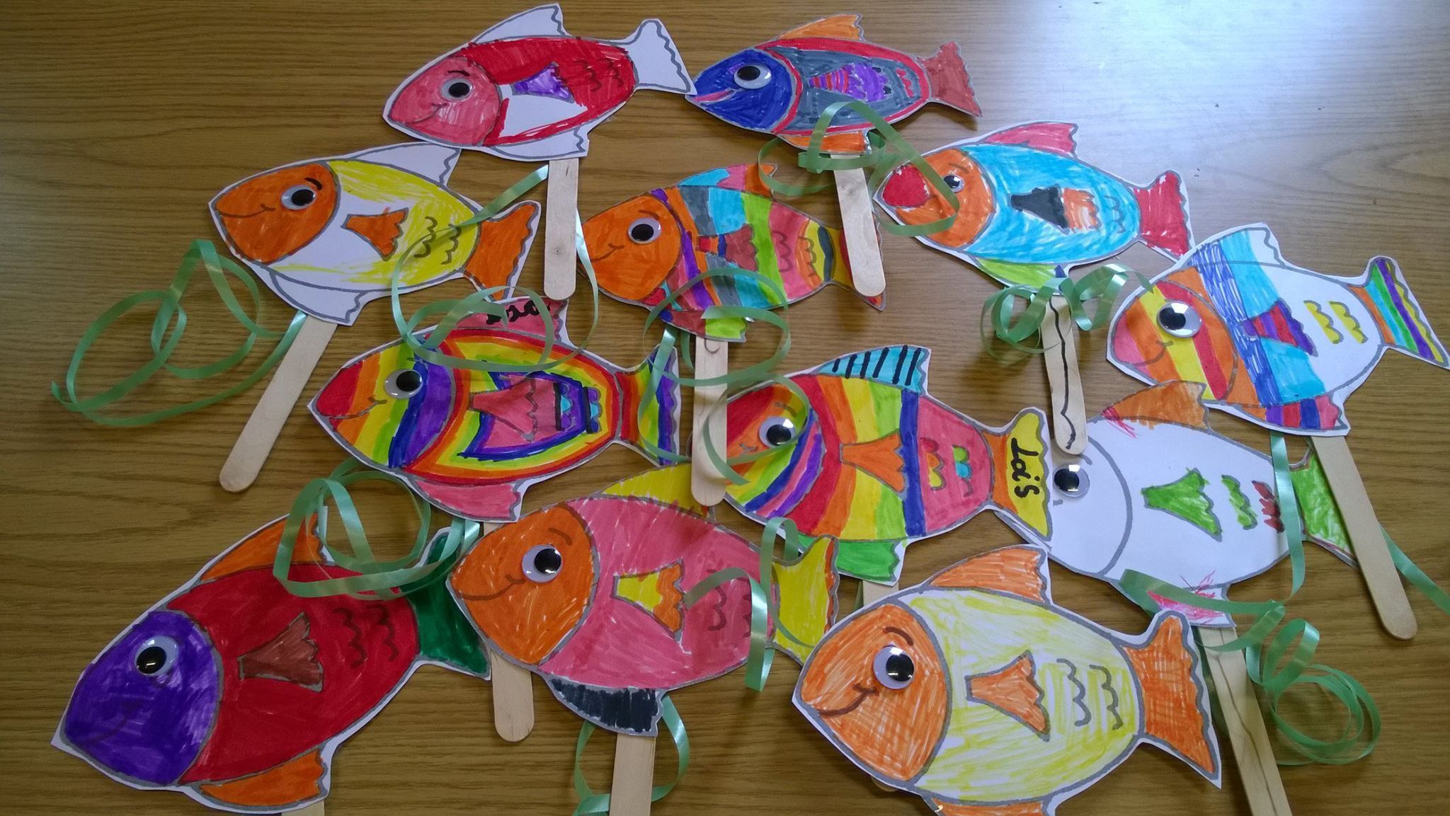 Rainbow Fish The Fish Who Could Wish Craft Activity