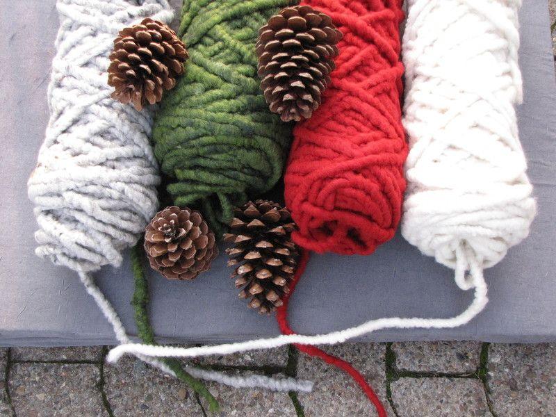 5 m Filzschnur 1,5 cm Grün,Creme,Rot,Grau Farben  von Sonja Sonnenschein auf DaWanda.com