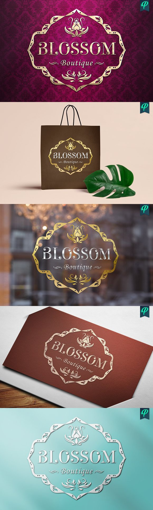 wedding invitation label templates%0A Blossom Boutique Logo Template  Wedding Card Templates