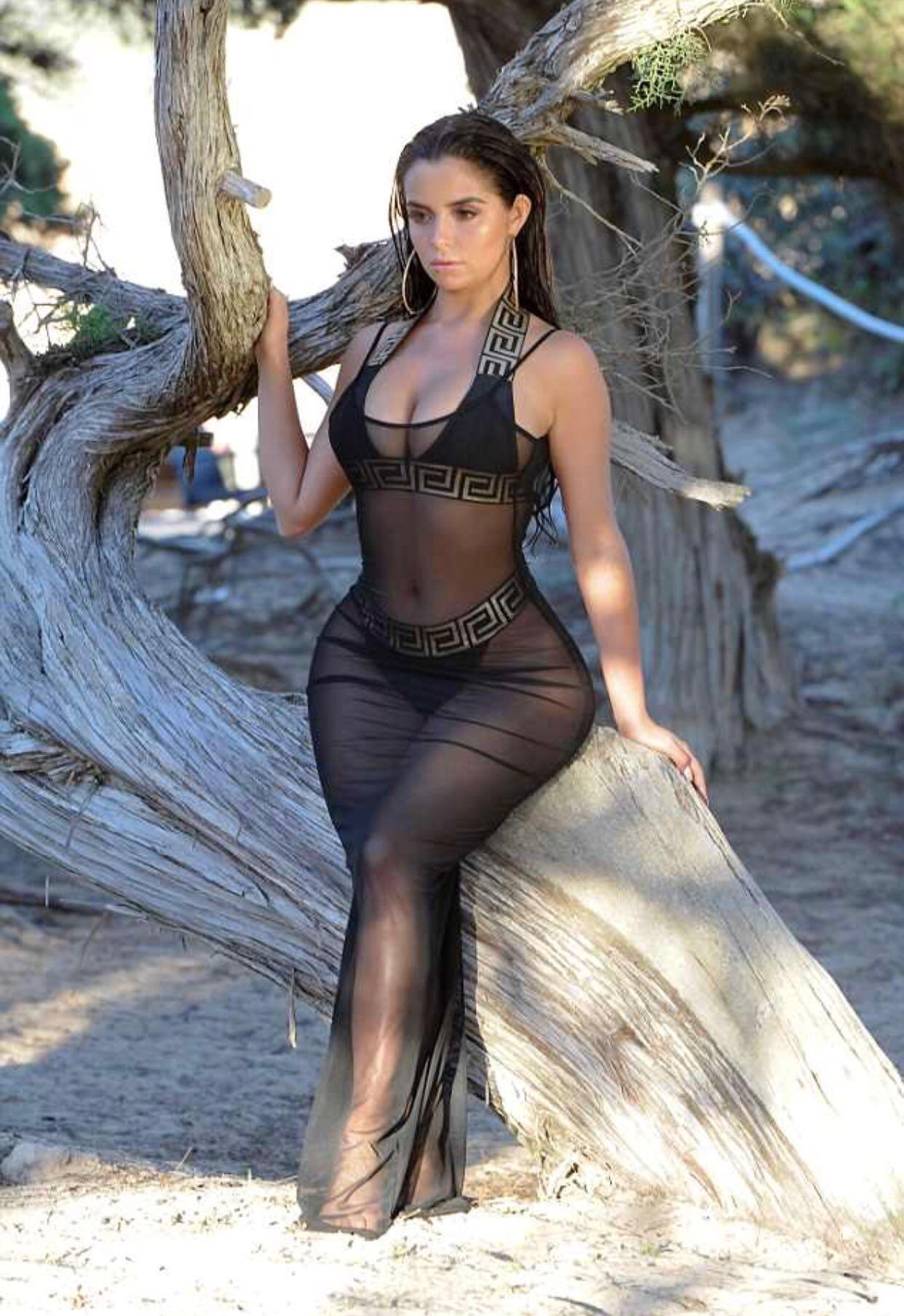 b2ea5c42c270c #see_through hot amazing transparent black dress show a sexy curvy lady  #omwahh