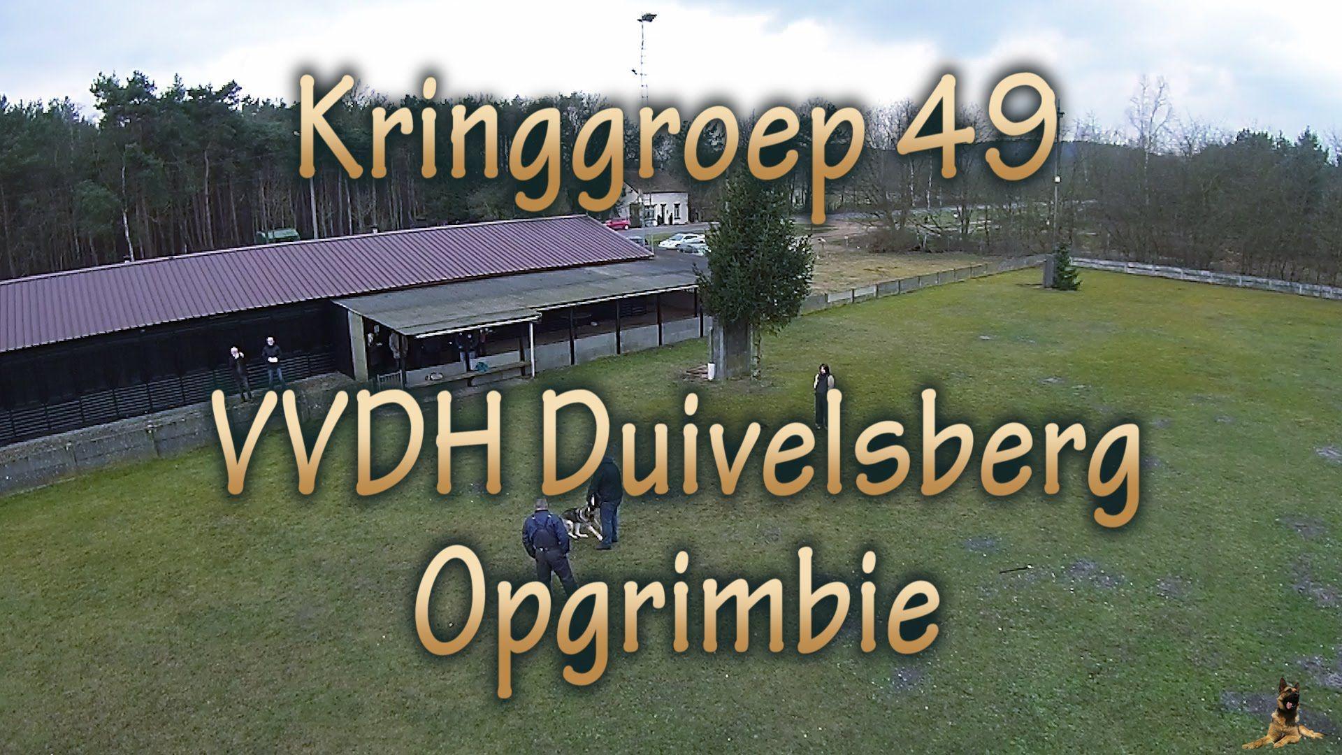 Pakwerk training met Duitse Herder - Kringgroep 49