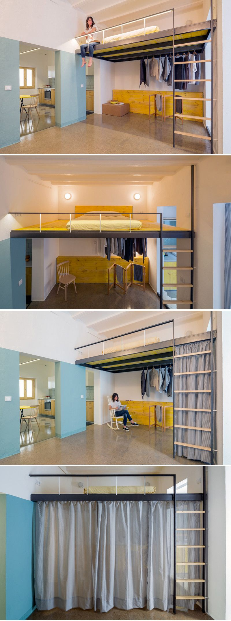 Nookarchitects design the interior of a loft apartment in for Wohnideen studentenzimmer