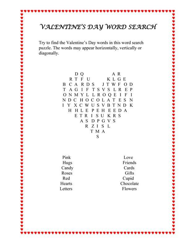 valentine 39 s day word find puzzle free valentine 39 s day english worksheet february pinterest. Black Bedroom Furniture Sets. Home Design Ideas
