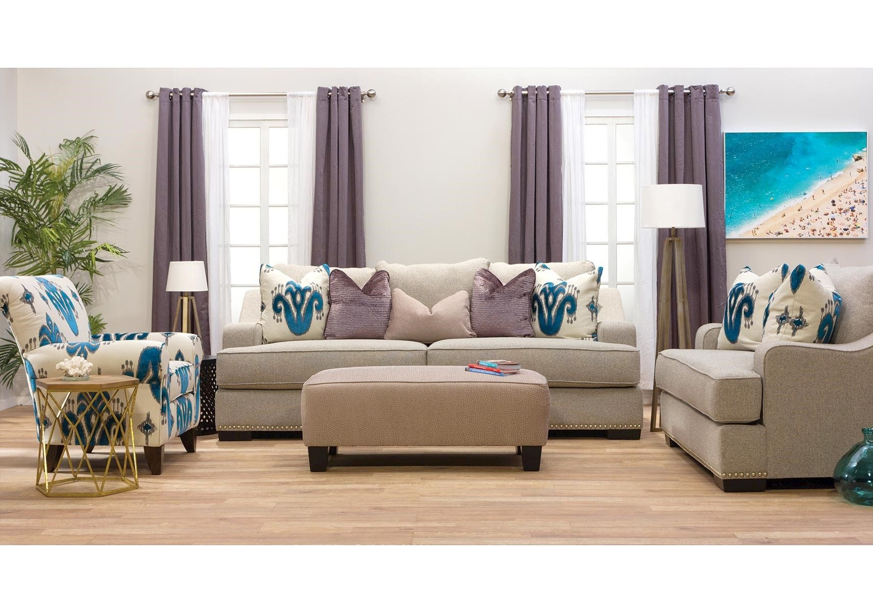Lacks | Jayne 2-Pc Living Room Set | Living room sets, Sofa ...