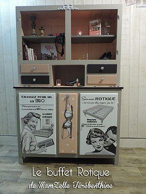 mamzelle t r benthine peintre en d cors relooking de meubles buffets mado meubles retro. Black Bedroom Furniture Sets. Home Design Ideas