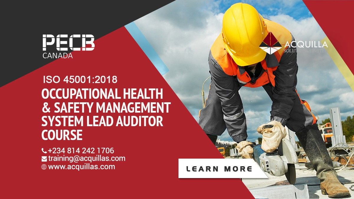 PECB ISO 450012018 Occupational Health & Safety