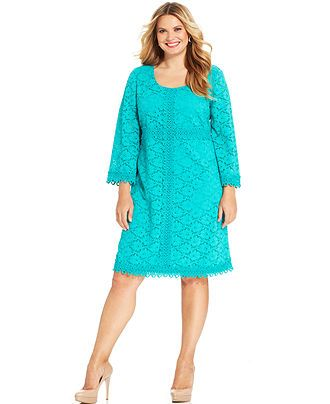 I kind of want a robin's egg blue dress... Alfani Plus Size Three ...
