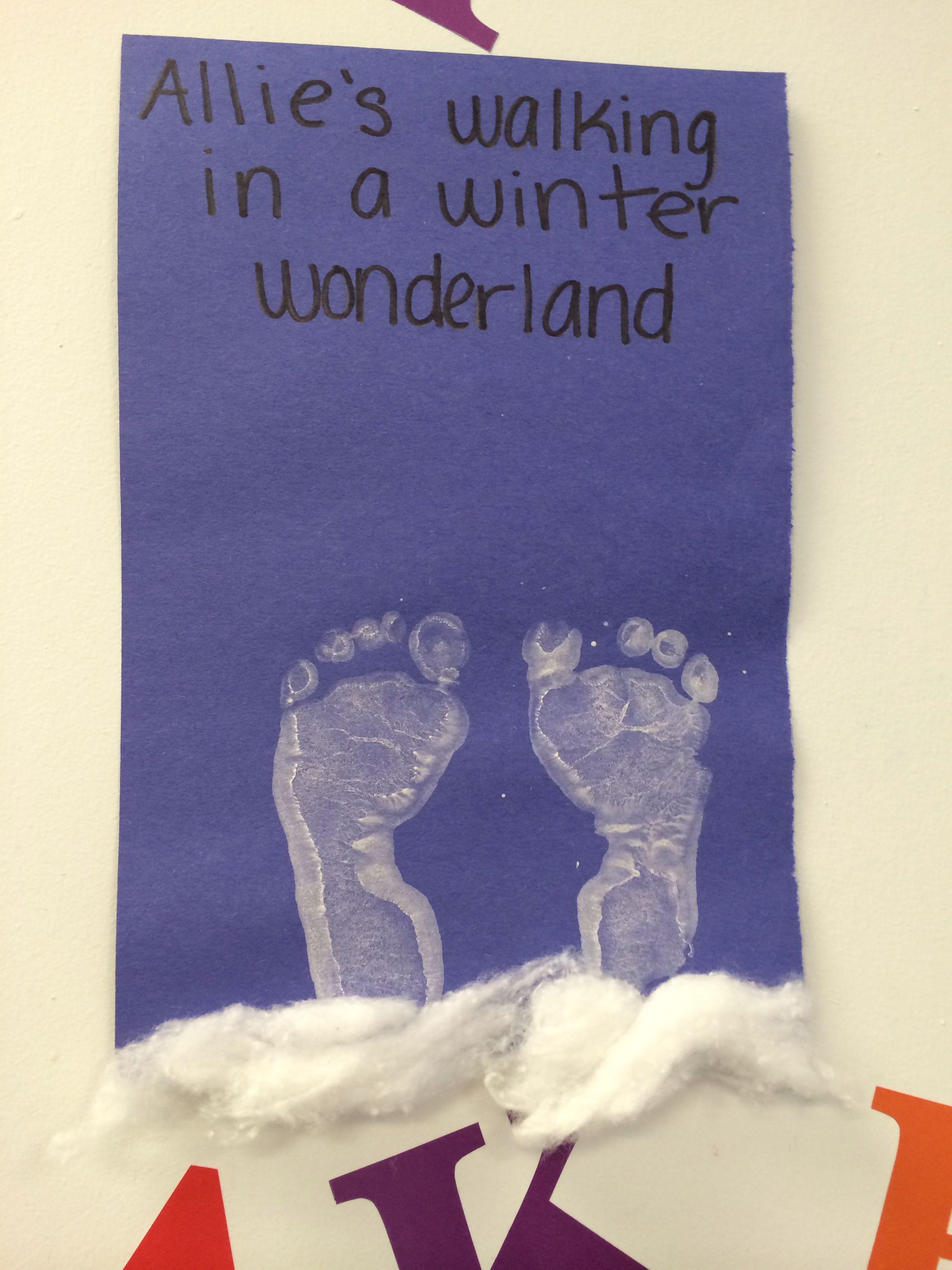 infant art walking in a winter wonderland infant art