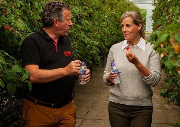 The Countess of Wessex visited Newhouse Farm in Hampshire