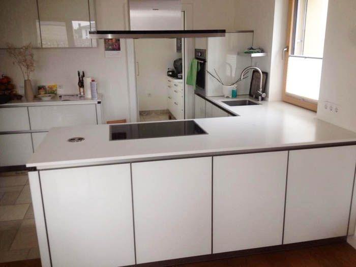 Aufmaß, Lieferung und Montage der Silestone Arbeitsplatten - küchentisch aus arbeitsplatte