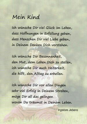 Gedichte Spruche Zitate Spruche Kinder