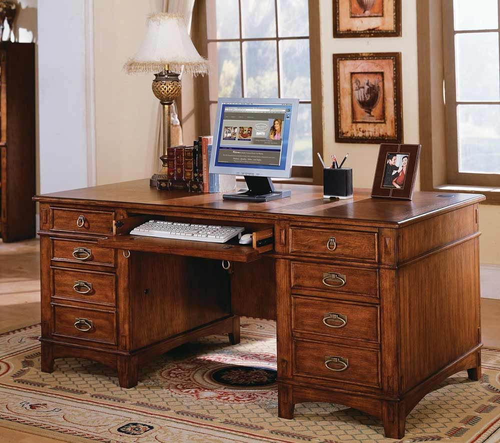 Kathy Ireland Mission Hills Computer Desk with Double