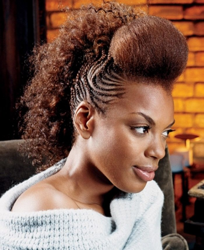 Mohawk Hairstyles For Women 50 mohawk hairstyles for black women Braided Mohawk Styles Braided Mohawk Hairstyles For Black Women
