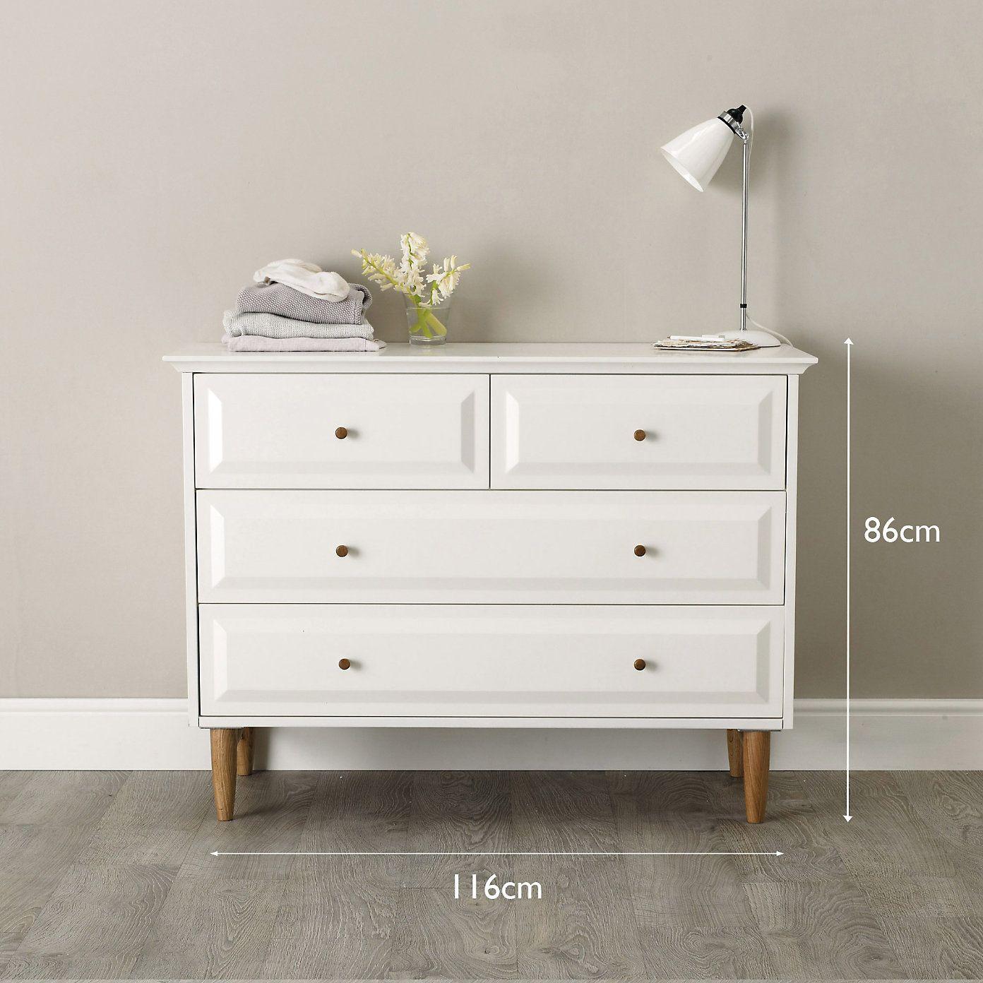 devon 4 drawer chest of drawers the white company the white rh pinterest com