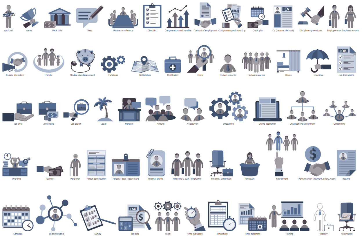 Design Elements Human Resources Flowcharts Workflow Management