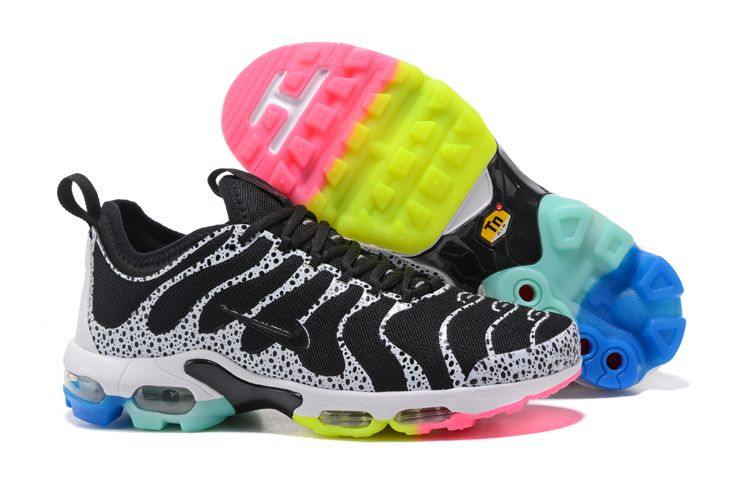 competitive price 0ad60 7fd78 Nike Air Max TN Plus Ultra Black White Rainbow Sole Women Men Shoes
