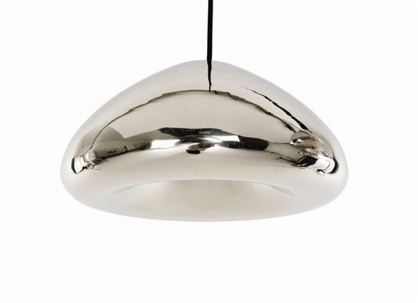 Tom Dixon Void Light Pendant | I'd love to see two of these hanging from the vaulted ceiling just above the island in the kitchen. HOTNESS.