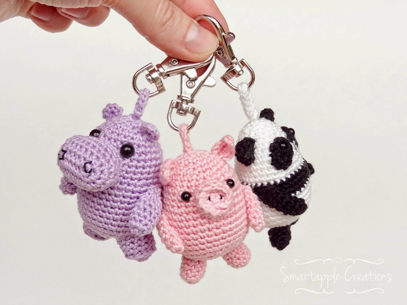 Amigurumi Crochet Keychain : Smartapple creations amigurumi and crochet amigurumi key chains