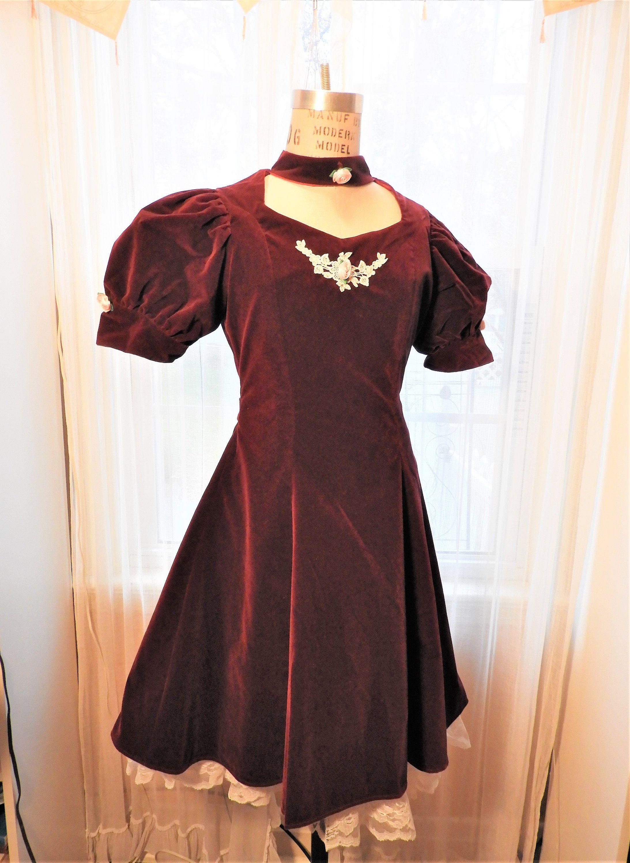 Vtg Girls Red Dress Merry Girl Party Dress Holiday Dress Etsy Victorian Fashion Dresses Girl Red Dress Vintage Girls Dresses [ 3000 x 2186 Pixel ]