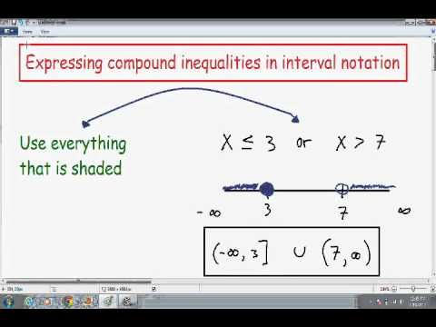 Writing Compound Inequalities In Interval Notation And Graphing Part 1 Compound Inequalities Notations Solving Inequalities