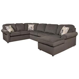 england malibu 5 6 seat right side chaise sectional home accents rh pinterest ca