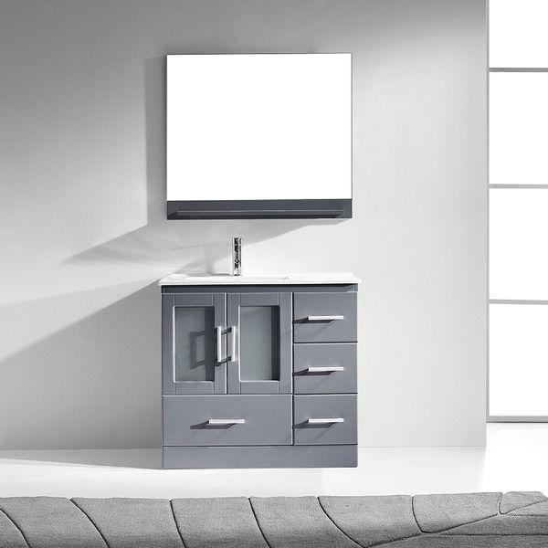 Gallery Website Virtu USA Zola inch Single Bathroom Vanity Cabinet Set in Grey