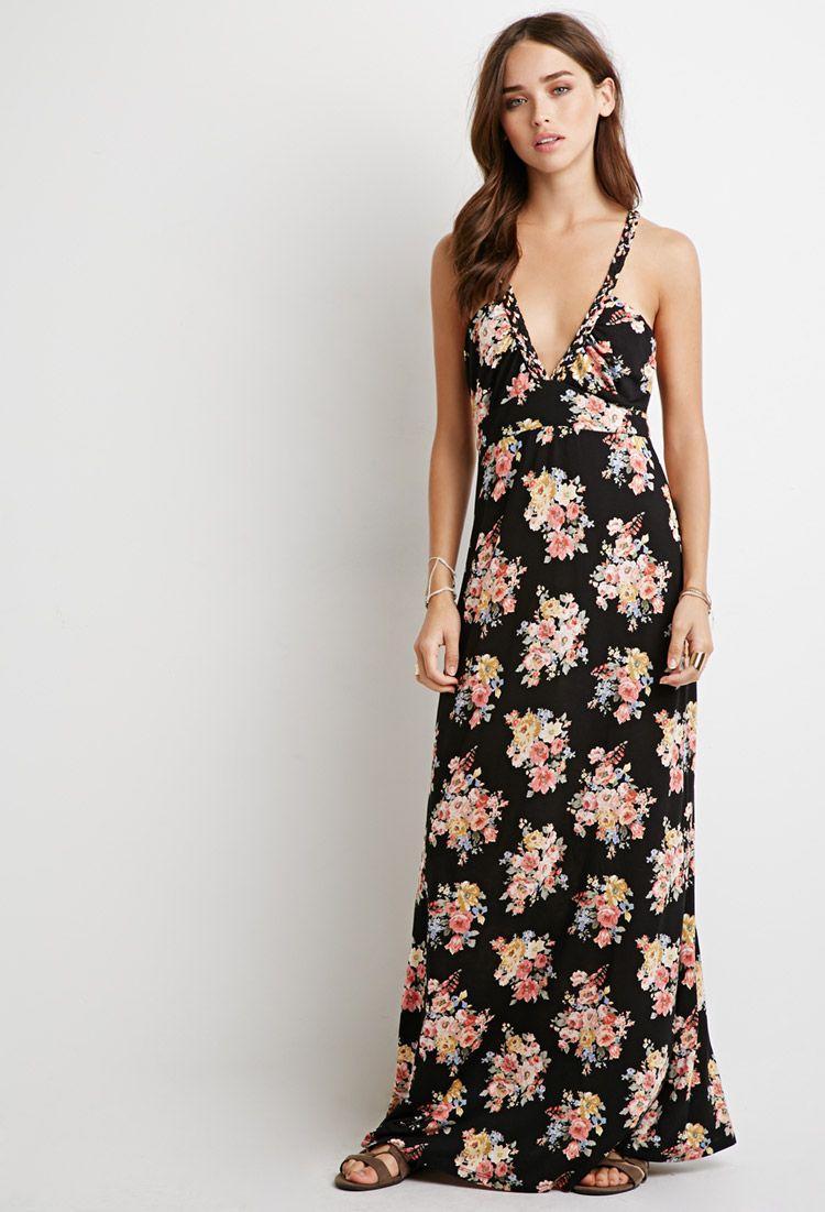 Floral Print Braided Strap Maxi Dress Maxi Dress Dresses Printed Maxi Dress