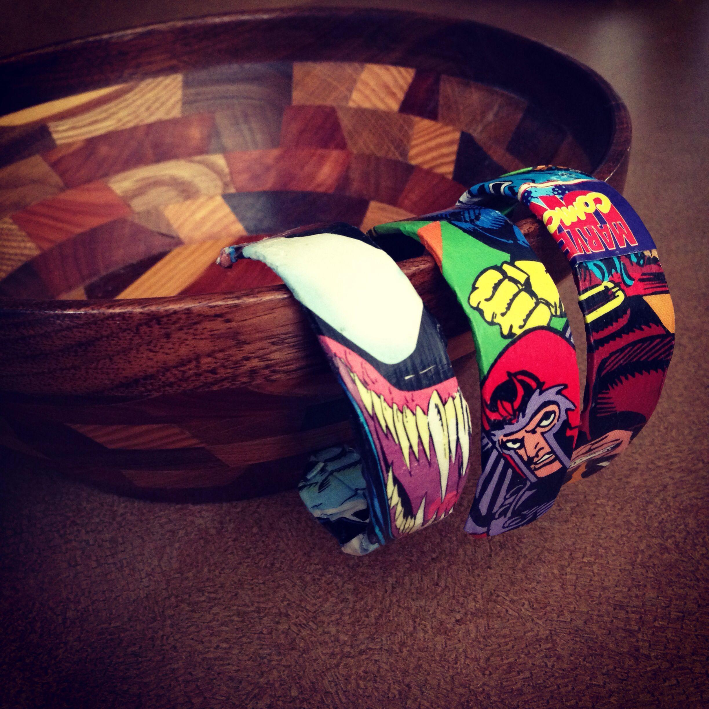 Homemade Popsicle stick superhero bracelets | Great ideas ...