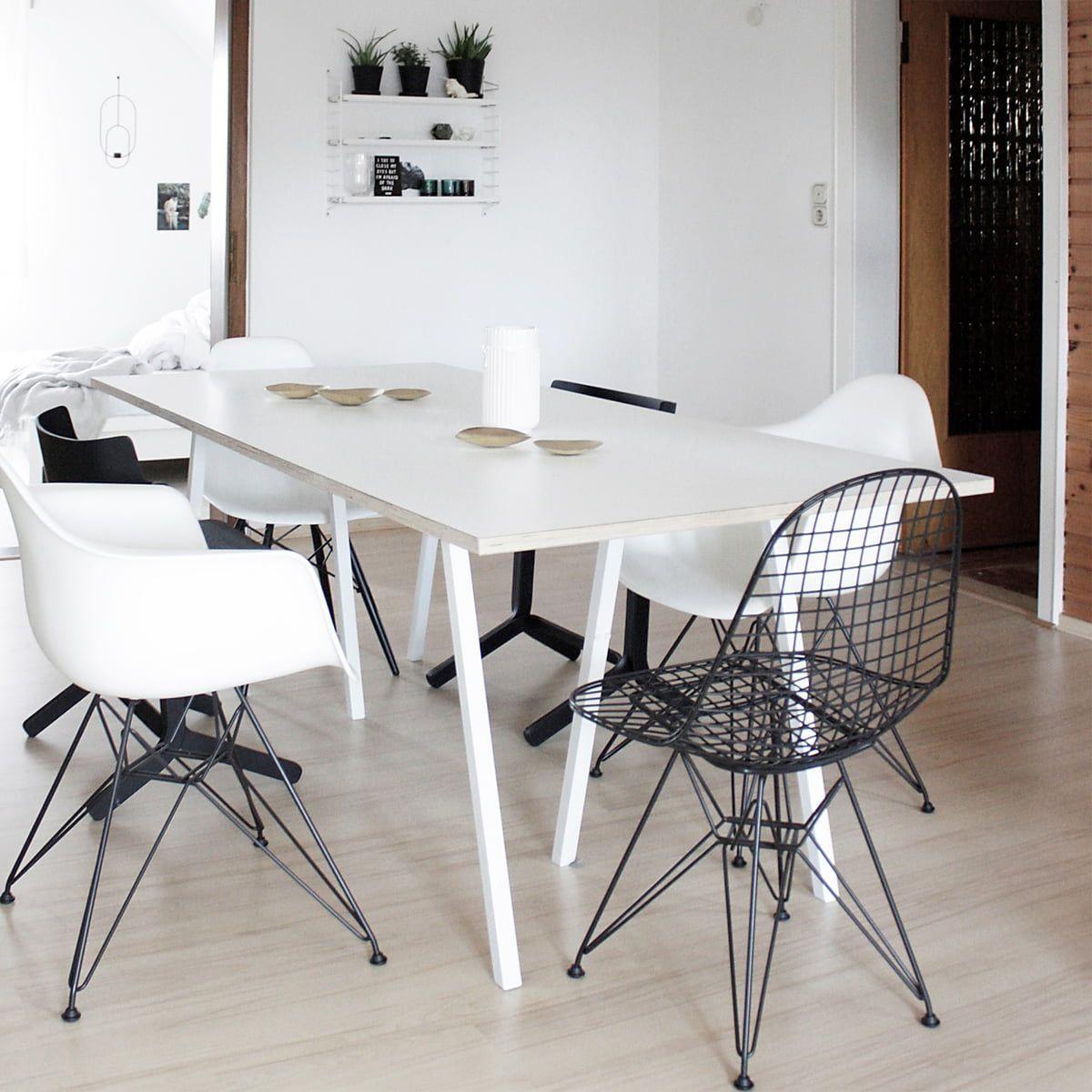 Vitra Eames Plastic Armchair Dar Verchromt Forest Filzgleiter Basic Dark Vitra Eames Plastic Armchair Dar Vit In 2020 Kuche Tisch Gebrauchte Mobel Wohn Design