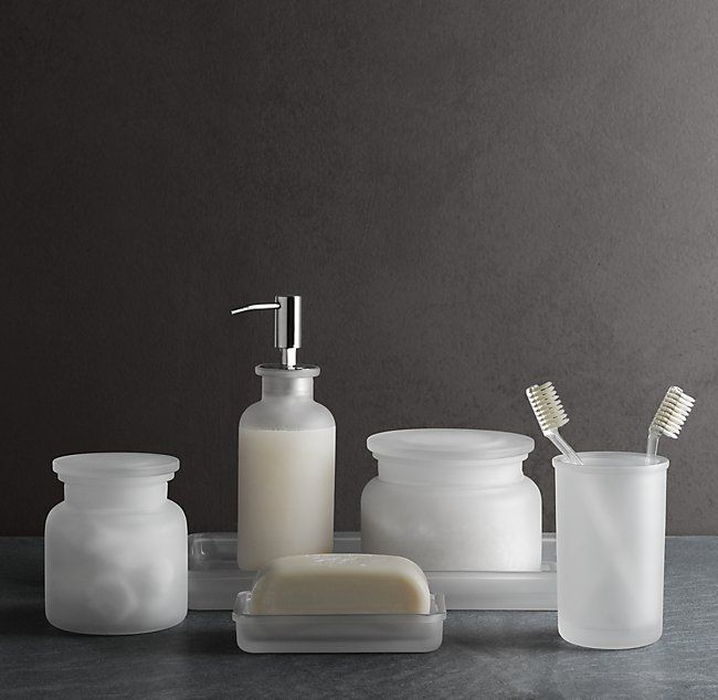 Pharmacy Frosted Gl Bath Accessories