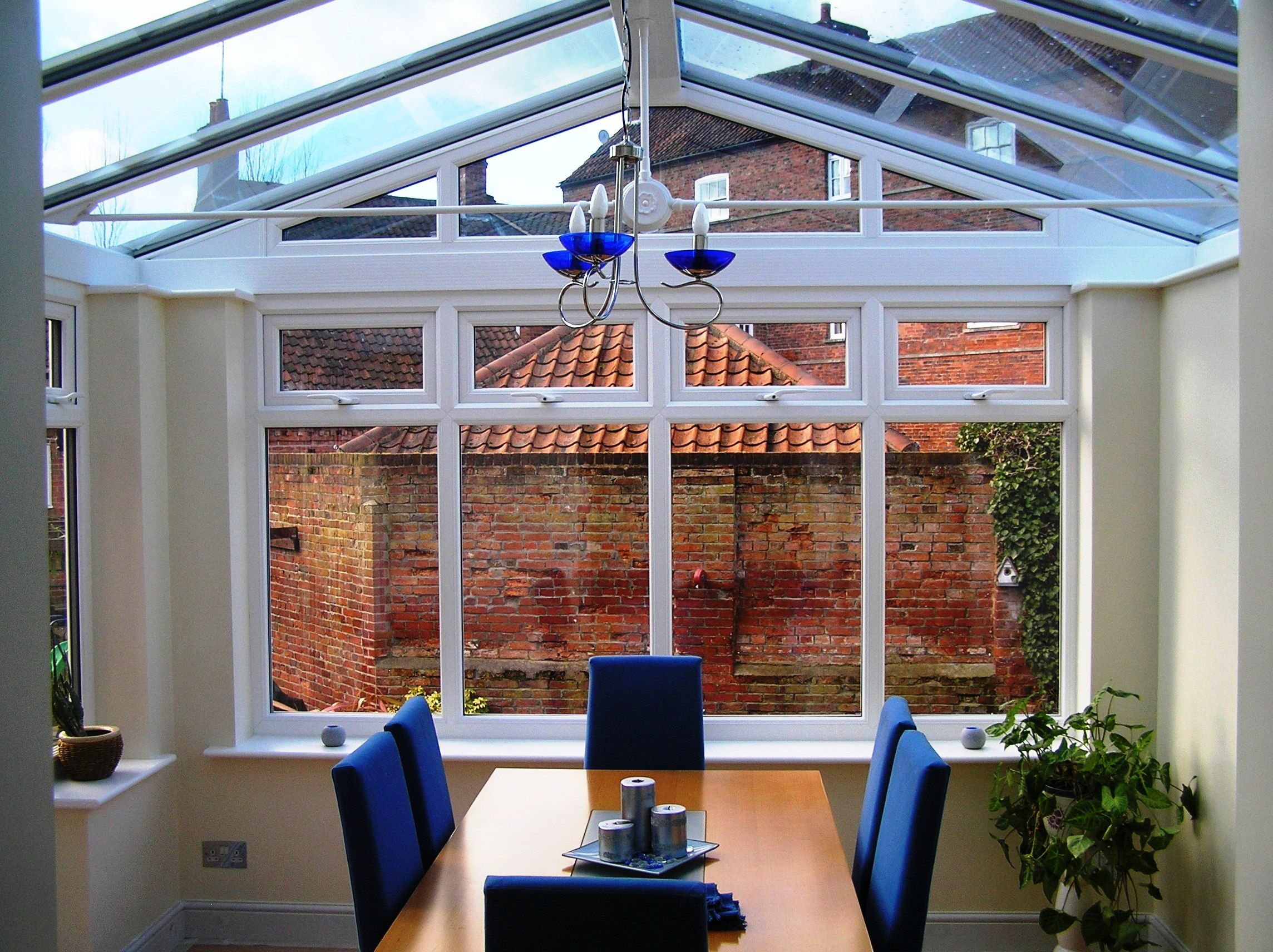 Inside A Gable End Brick Pier Conservatory House Layouts House Styles Conservatory Dining Room
