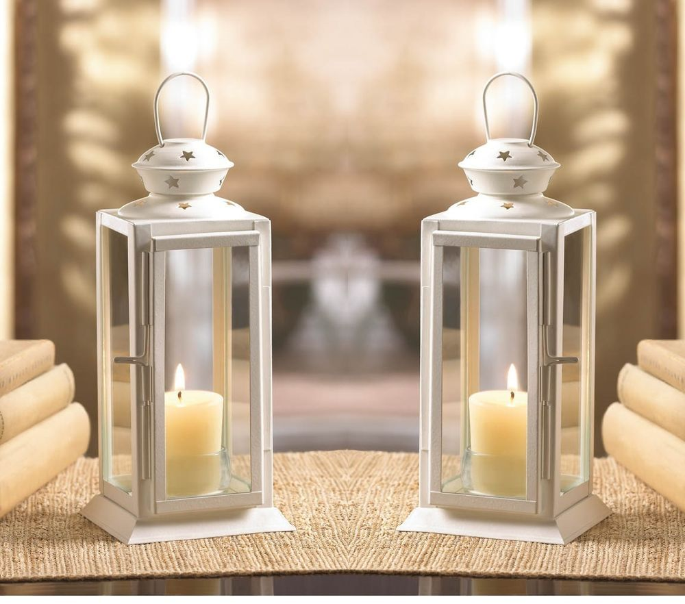 10 white 8 tall candle holder lantern lamp terrace wedding table 10 white 8 tall candle holder lantern lamp terrace wedding table centerpieces home garden home dcor candle holders accessories ebay junglespirit Choice Image