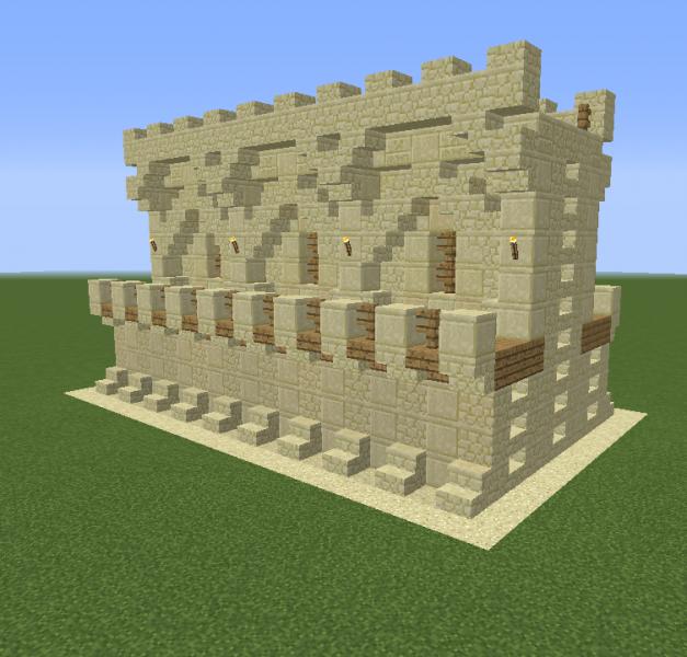 Minecraft Sandstone Double Wall Design