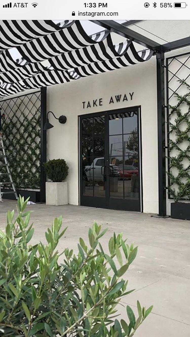 Me Gusta El Toldo Green Facade Modern Store Cafe Decor
