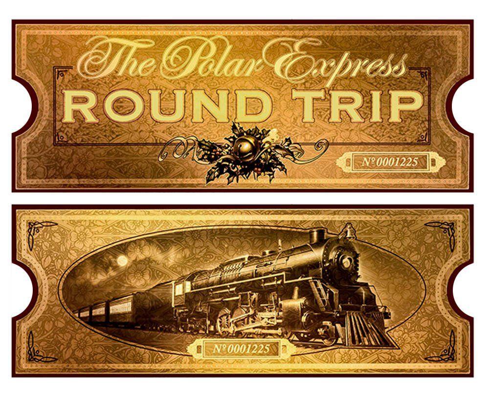 Polar Express Film Movie Reproduction Golden Train Ticket Boarding