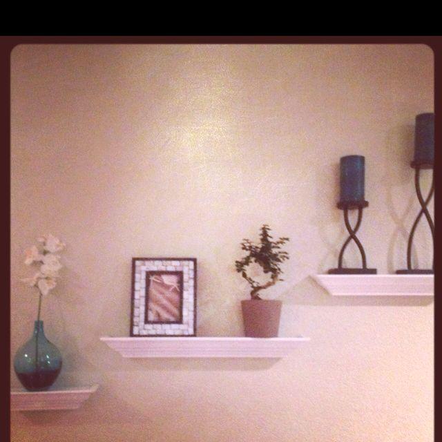 Living Room Floating Shelves Ikea: bonsai, orchid, and vase Kohl\'s ...
