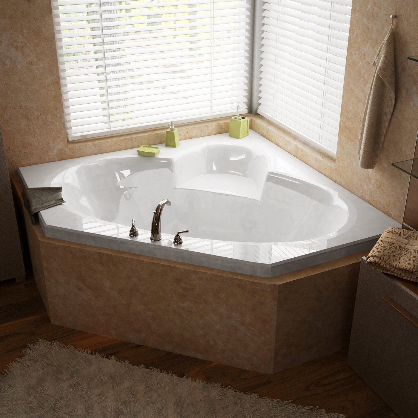 Atlantis 6060s Sublime Corner Soaking Bathtub At Atg S Browse Our Bathtubs Whirlpool