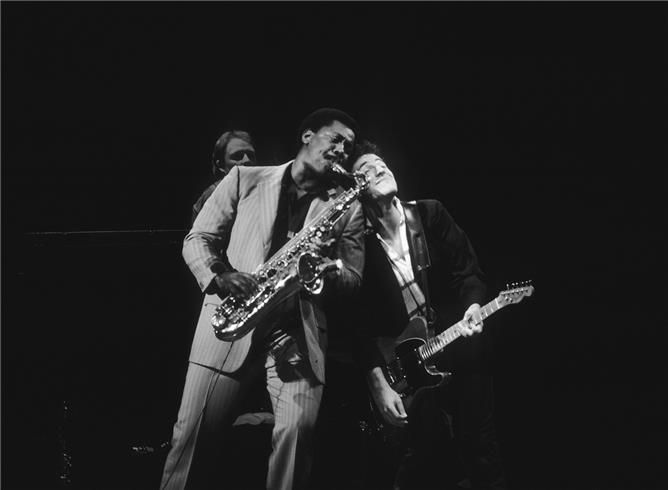 Bruce Springsteen and Clarence Clemons Photographer: Charlyn Zlotick