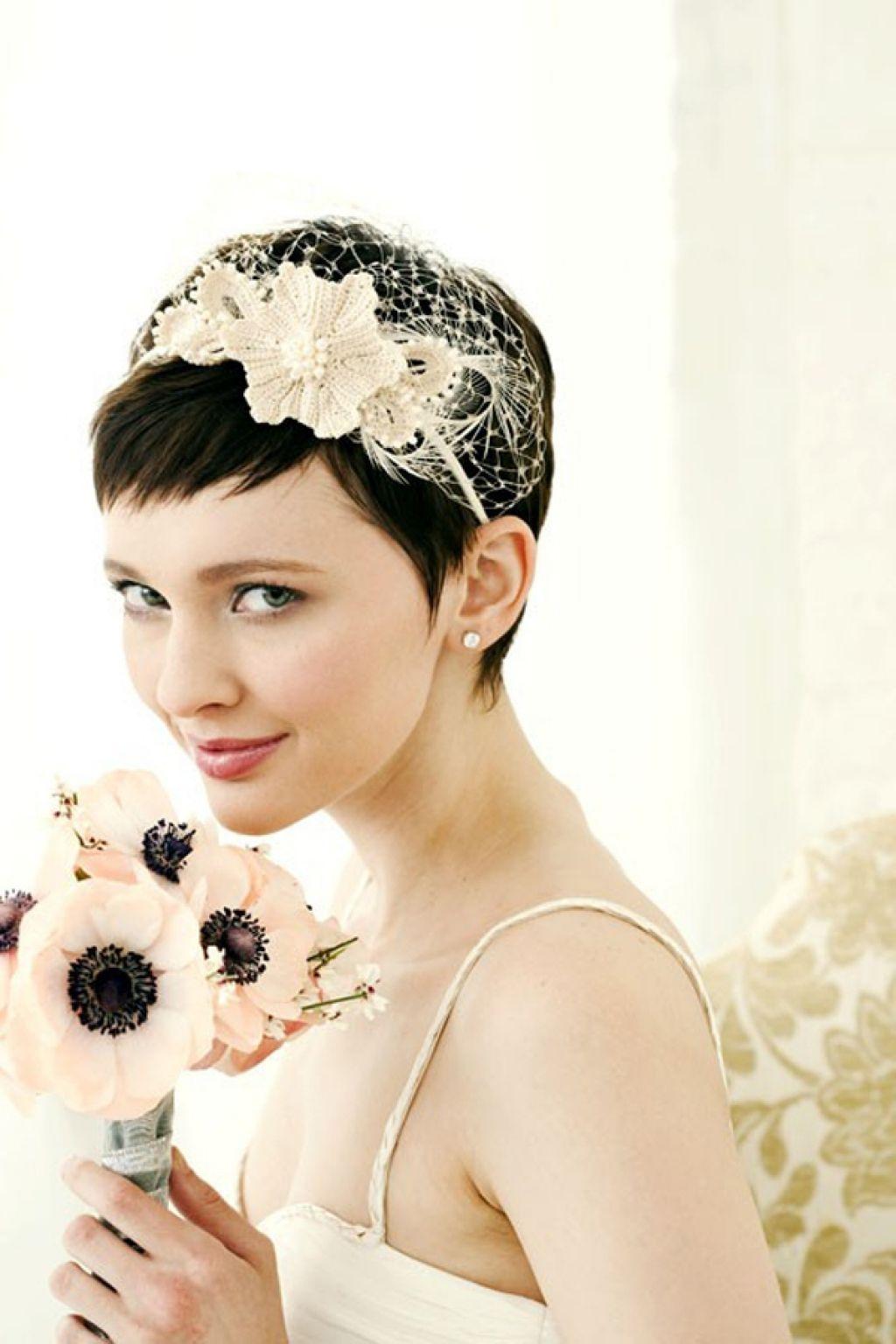 brides with short hair wedding hairstyle ideas hair romance short