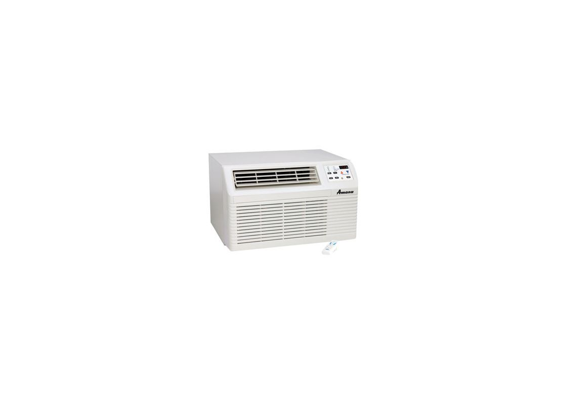 Amana Pbh093e35bb 9000 Btu Through The Wall Air Conditioner With 8500 Btu Heat Stonewood Beige Air Conditioners Through Wall Cooler And Hea Heat Pump