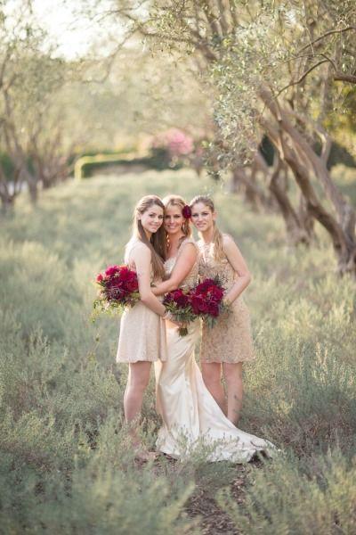 Gold and magenta hues: http://www.stylemepretty.com/california-weddings/montecito/2014/12/23/elegant-san-ysidro-ranch-holiday-wedding/ | Photography: Melissa Musgrove - http://www.melissamusgrove.com/