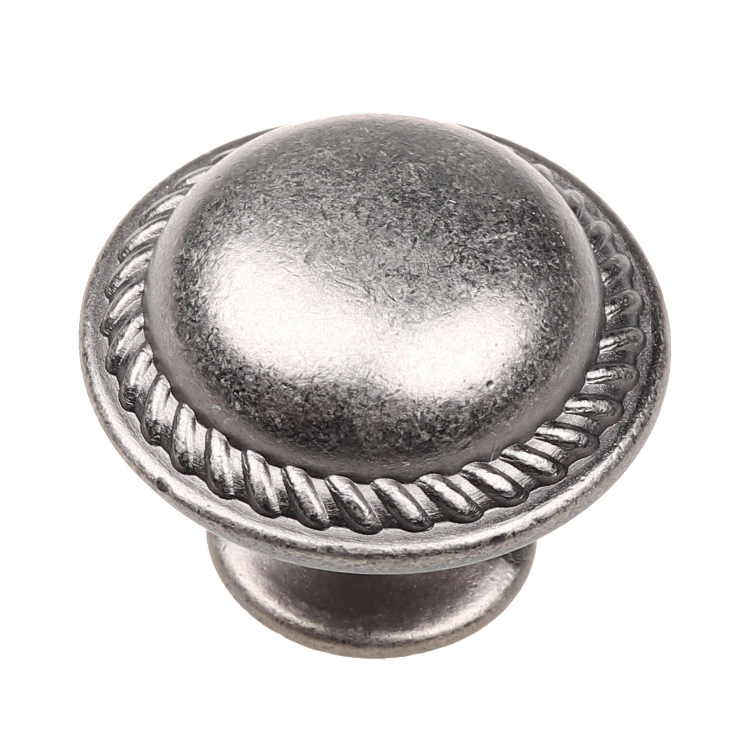 Cosmas 5268SN-X Satin Nickel /& Black Glass Cabinet Knob