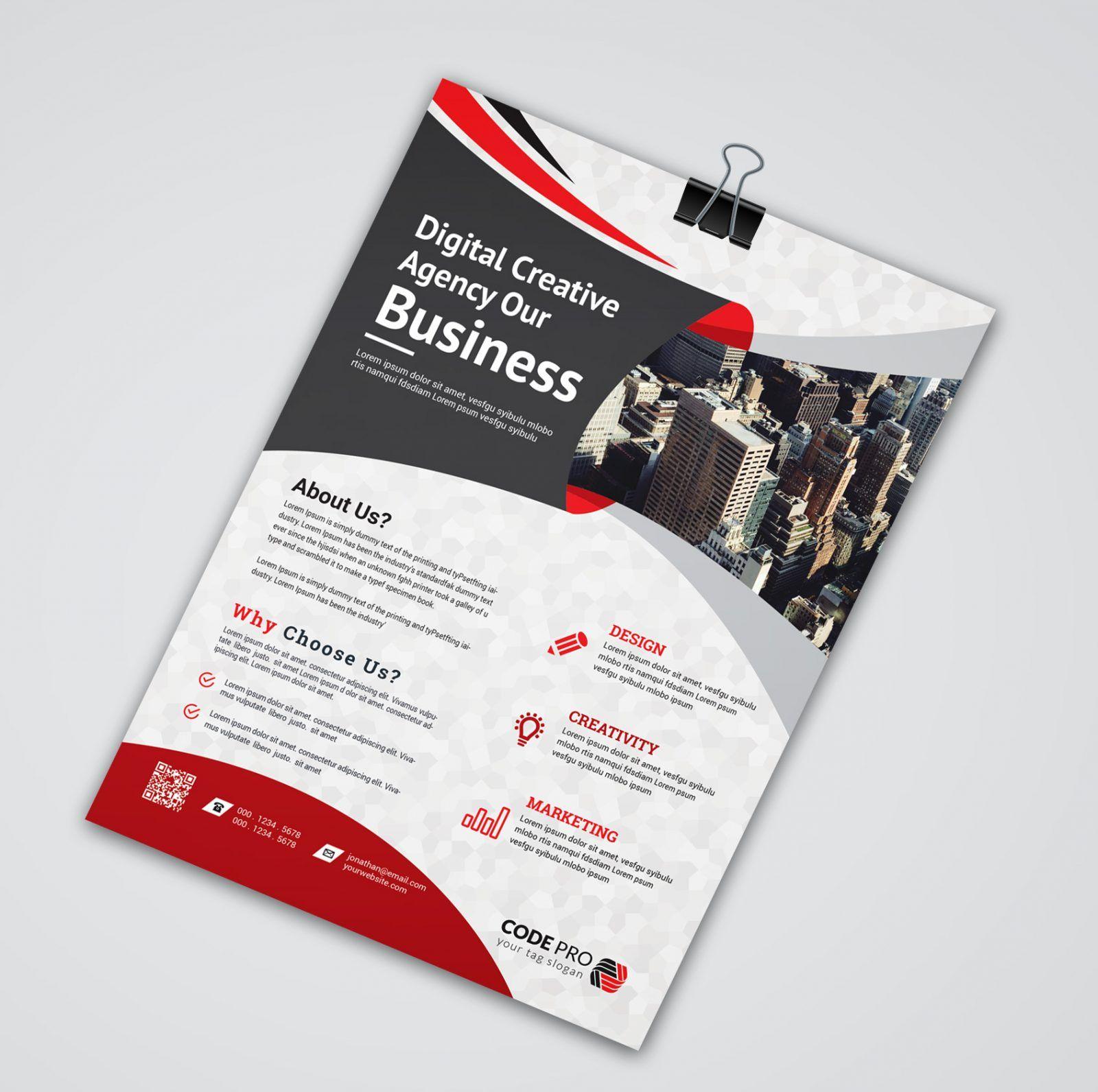Brussels Creative Business Flyer Design Template 001637