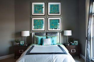 Schlafzimmer Türkis ~ Wandgestaltung schlafzimmer türkis minimalistische haus design