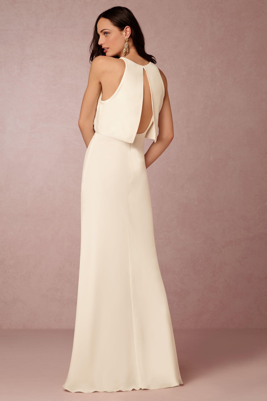 Bhldn 39 s jill jill stuart iva crepe maxi in ivory crepes for Maxi dress for wedding reception