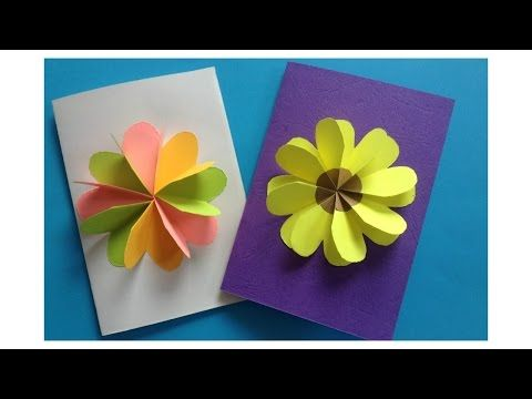 Youtube  Greetings    Flower Cards Diy Flower And Origami