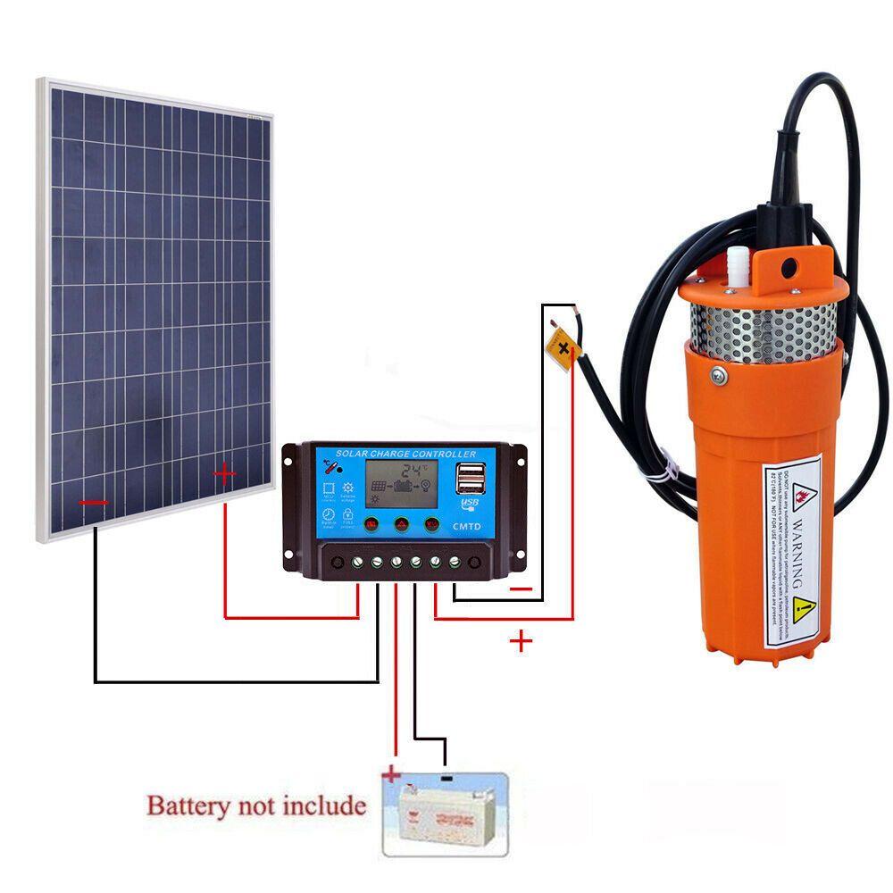 Solar Pumpen Kits 100w Pv Solarpanel Dc Deep Well
