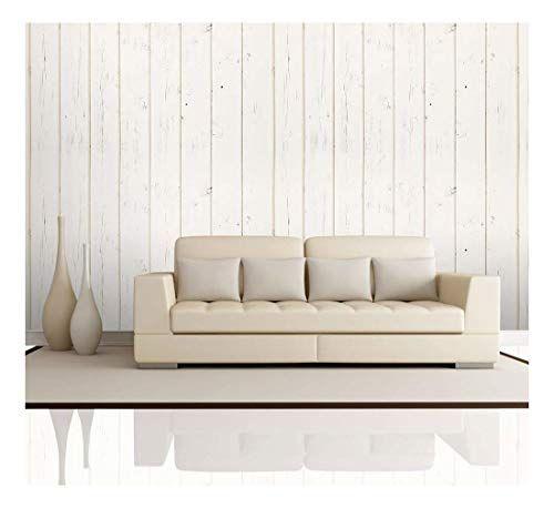 Cream Retro Vertical Wood Textured Paneling Pattern Wall